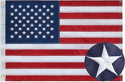 3'x5' ft, American Flag US USA | EMBROIDERED Stars, Sewn Stripes, Brass Grommets