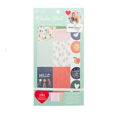 American Crafts Dear Lizzy Sticker Book - Rose Gold Foil Accented, 1384 Pieces