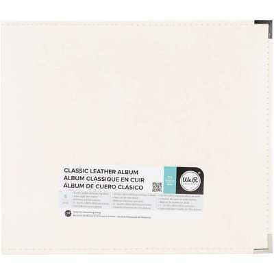 """We R Memory Keepers 660903 Classic Leather D-Ring Album 12""""X12"""", Vanilla"""