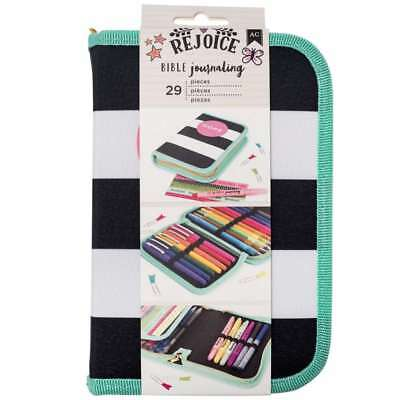 American Crafts 29 Piece Storage Pouch Hope Bible Journaling