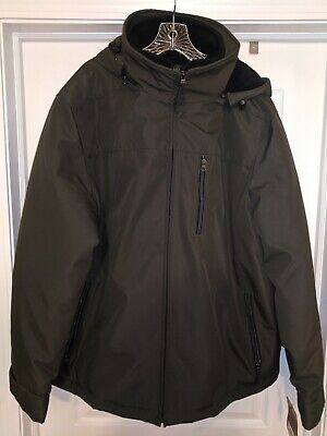 Sonoma Mens Winter Jacket Black Olive Color XXL New With Tags