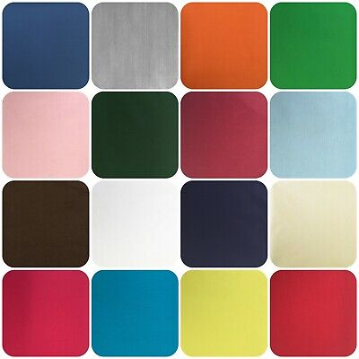 "Plain Poly cotton Fabric, Sheeting, Dress Craft, Selection of colours, 94"" Width"