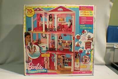 Mattel Barbie Dream House 3 Story Doll House w/ 70 + Accessories