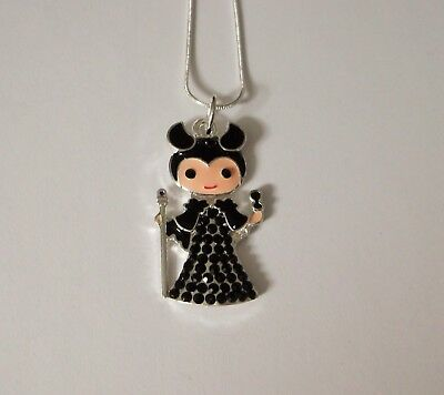 EVIL QUEEN Inspired Large Charm NECKLACE + Rhinestones