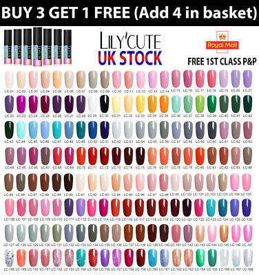 LILYCUTE® Nail Gel Polish UV LED Soak Off Colour Manicure Base No Wipe Top coat