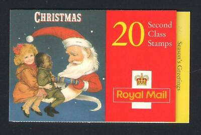 GB Postage - Booklet of 20 x 2nd class Santa Christmas Stamps, FV £12.20
