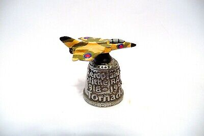 """Thimble Pewter Stephen Frost Handpainted Topper Raf's """"Tornado"""" 1918-1993"""