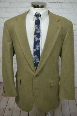 Chaps Ralph Lauren Mens Brown HERRINGBONE Alpaca Sport Coat Blazer Jacket 46L