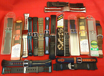 SORRY, NO SUBSTITIONS Wholesale Liquidation Lot of 21 Sport, Metal Watch Bands