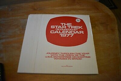"1977 Star Trek ""Stardate"" Calendar NEW IN BOX SEALED"