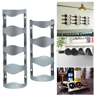 Kitchen Storage Stainless Steel Wine Rack Wall Hanging Anti-fall Stand Organizer