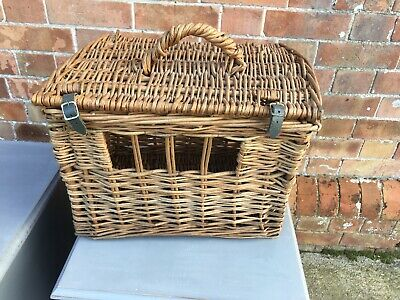 Vintage Retro Wicker Pet Basket Travel Carrier Cat Carrier Small Dog collectable