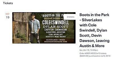 Boots In The Park Oct. 19th @ Silverlakes
