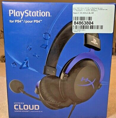 HyperX Cloud For PS4, Gaming Headset for Sony Playstation 4 Refurbished Grade A