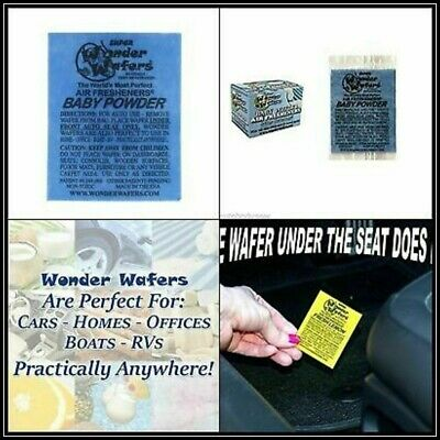 Wonder Wafers 50 Count INDIVIDUALLY WRAPPED Air Fresheners Car, Baby Powder