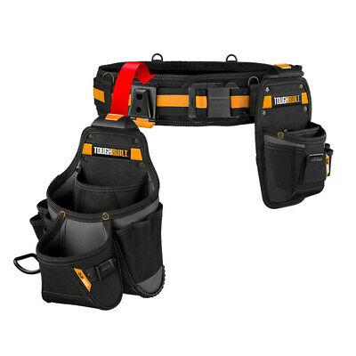 Tool Belt Set Handyman Tools Organizer Pouch Kickstand Pockets Hammer Loop 3Pc