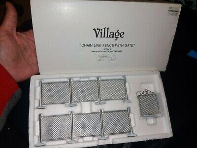 """Dept 56 Village /""""Chain Link Fence with Gate/"""" #5234-5 MIB"""