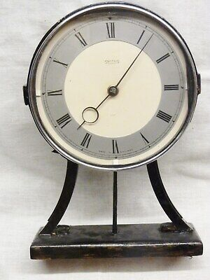 1930s art deco smiths mantel clock 4 jewels large dial spares or repair 8 day