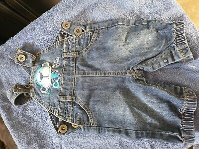 Boys Denim Dungarees Age 0-3 Months