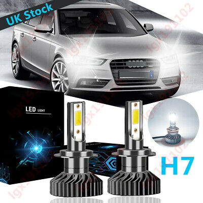For Audi A4 B7, B8 2005-2012 Low High Fog Xenon Headlight Bulbs H7 H7 H11 Set
