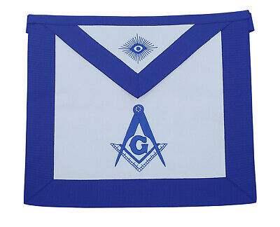 Masonic Blue Lodge Master Mason Apron (%100 Lambskin ) Hand Embroidered