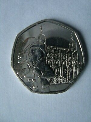 PADDINGTON BEAR 2019 50p TOWER OF LONDON COIN UNCIRCULATED FROM SEALED BAG