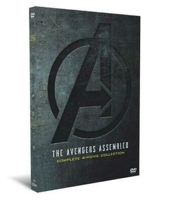 NEW!  Marvel Avengers 1-4 (DVD Complete 4-Movie Collection) - Includes Endgame-