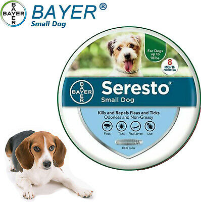 Bayer Seresto Flea and Tick Collar for Small Dogs Up to 18 lbs,GREAT SALE