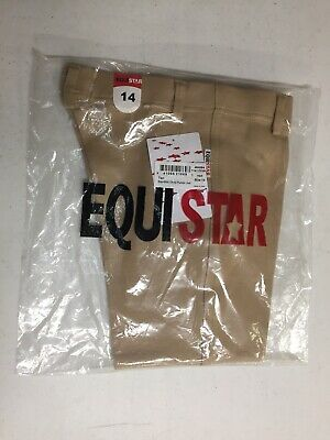 EquiStar Pull On Jods Children's Kid Youth Show Breeches Tan Size 14 NWT