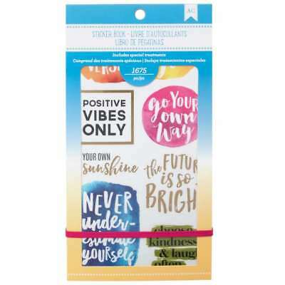 "American Crafts 1654 Piece Inspirational Life Sticker Book Planner 4.75"" x 9"""