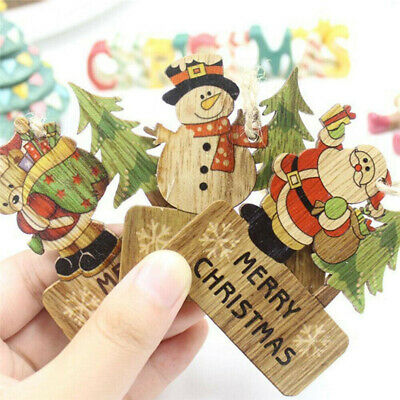 250PCs Christmas Tree Wooden Buttons Fit Sewing and Scrapbook 3.2x3cm