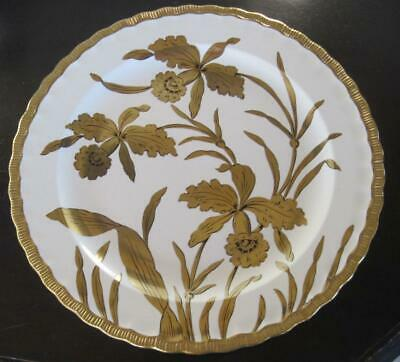 """Stouffer Fine China Golden Orchid 11.75"""" Charger Signed"""