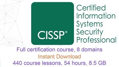 CISSP Certification 2018 video training course full 8 Domains INSTANT DOWNLOAD