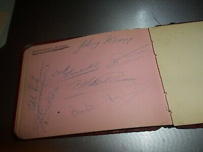 Vintage Football Autograph On Autograph Page Doncaster Rovers 1950S Signed By 7