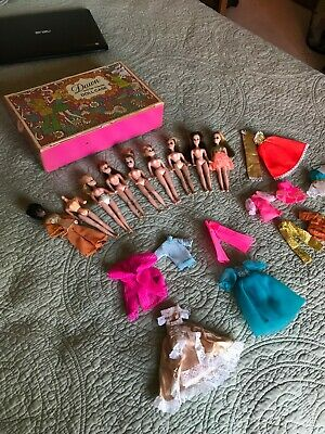 Vintage Topper Dawn Dolls (8) + 1 body, Case, and Outfits DALE ! DENISE!
