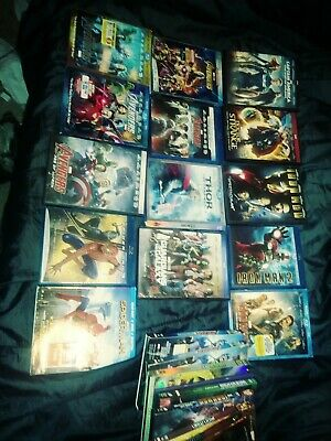 Marvel 3D Bluray Bluray DVD Movie Lot Avengers Thor Spiderman Iron Man