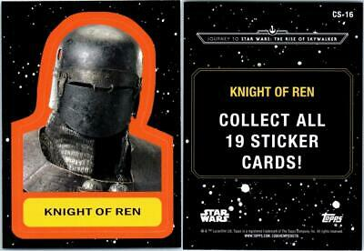 2019 Journey To Star Wars The Rise Of Skywalker Sticker Card Cs-16 Knight Of Ren