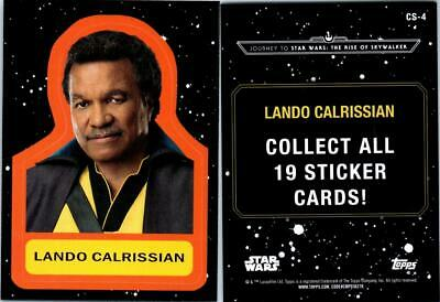 2019 Journey To Star Wars The Rise Of Skywalker Sticker Card Cs-4 Lando Calrissi