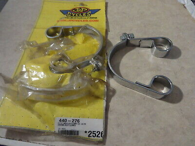 "Harley Davidson FLT 3"" muffler clamps 80-84 chrome body clamps new"