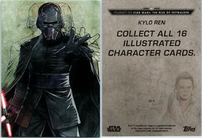 2019 Journey To Star Wars The Rise Of Skywalker Illustrated Card Ic-1 Kylo Ren