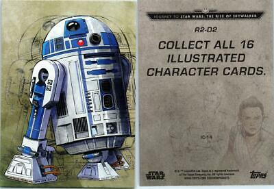 2019 Journey To Star Wars The Rise Of Skywalker Illustrated Card Ic-14  R2-D2