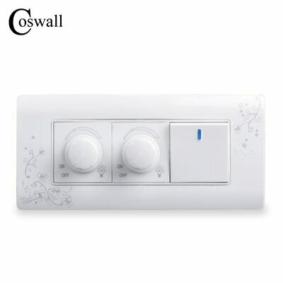 Wall Switch Double Dimmer Regulator 1 Gang 2 Way Light Push Button AC 110V 250V