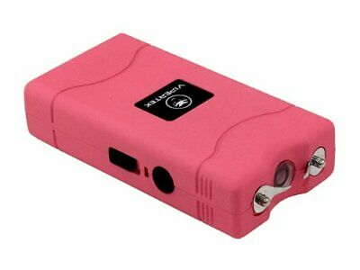 VIPERTEK VTS-880 30 Billion Mini Stun Gun Rechargeable with LED Flashlight Pink