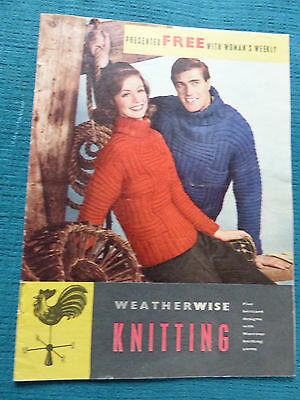 Vintage 1963 Knitting Pattern Booklet, 5 designs - 4 Sweaters & a Suit.