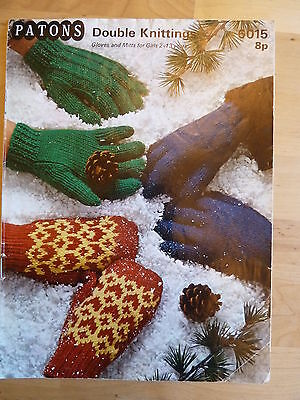 Vintage Knitting Pattern for Gloves and Mittens for Girls 2-13 Years