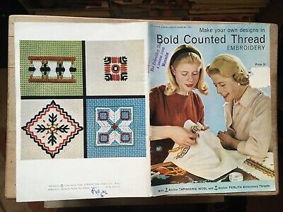 Make Your Own Designs in BOLD COUNTED THREAD Embroidery - 1965 Booklet
