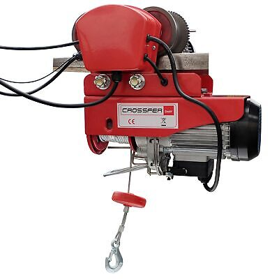 Crossfer Electric Winch with Trolley 300 kg Cable Control with Chassis Winch