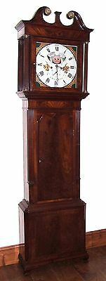 Antique Mahogany Halifax Moon Longcase Grandfather Clock by Thomas DEAN of LEIGH