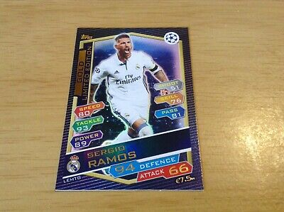 Gold limited edition Ramos champions league 2016-17  topps match attax card