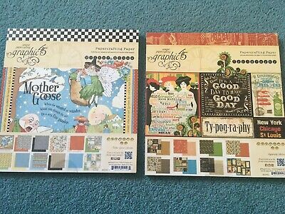 Graphic 45 Papercrafting Paper Mother Goose & Typography New